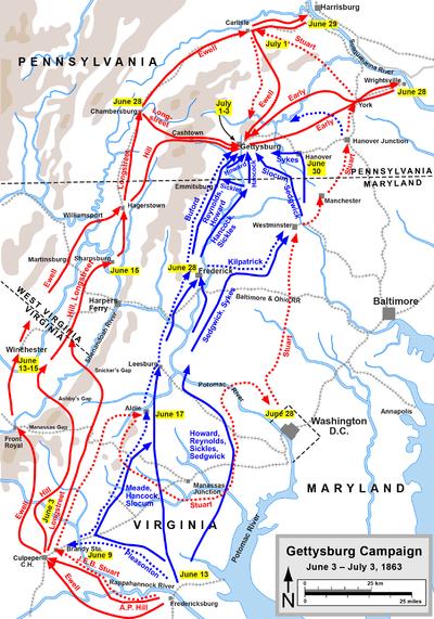 Gettysburg Maps by Hal Jespersen