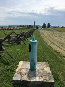 finding mortuary cannons at Antietam