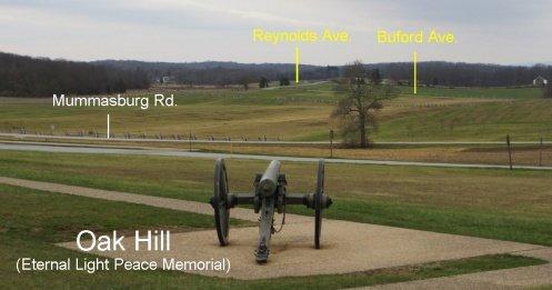 bike ride to the Gettysburg Eternal Light Peace Memorial