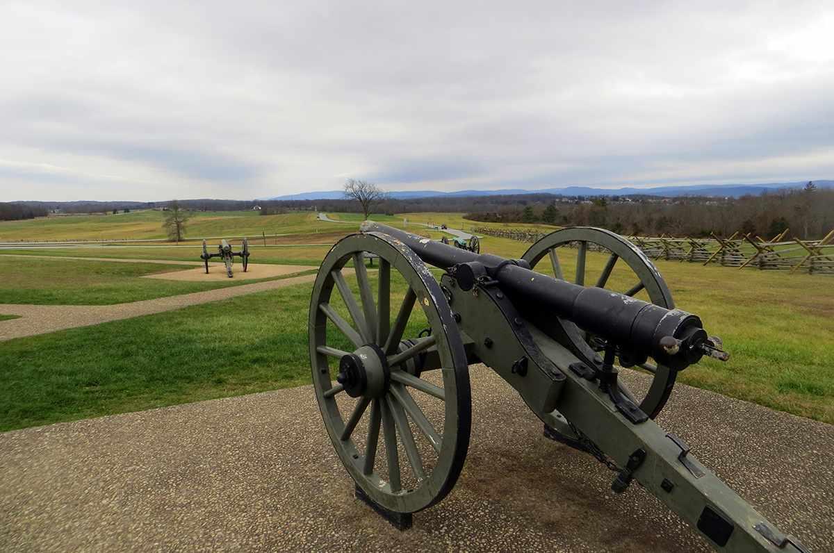 Cannon facing Southwest on Oak Hill