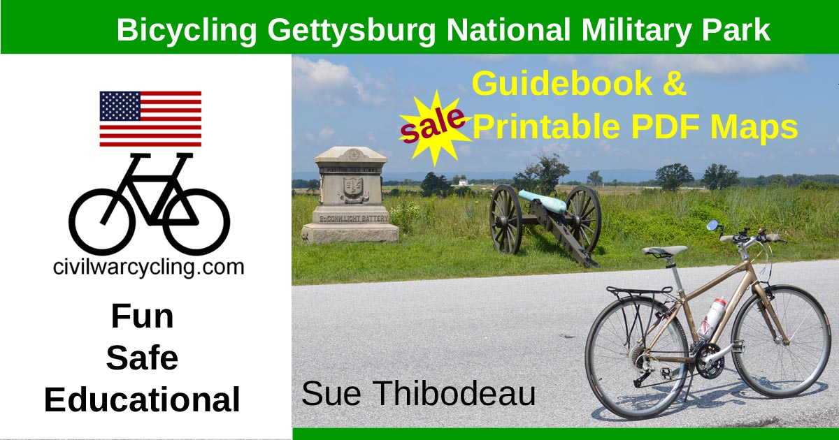 Holiday Sale Bicycle Gettysburg Guidebook and Maps, photo galleries page