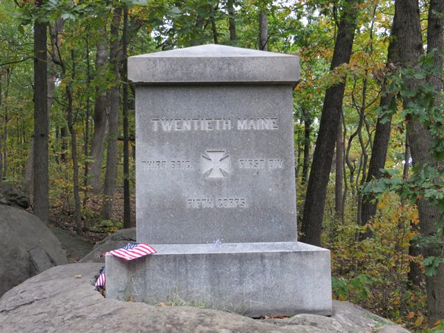 20th Maine Monument on Little Round Top