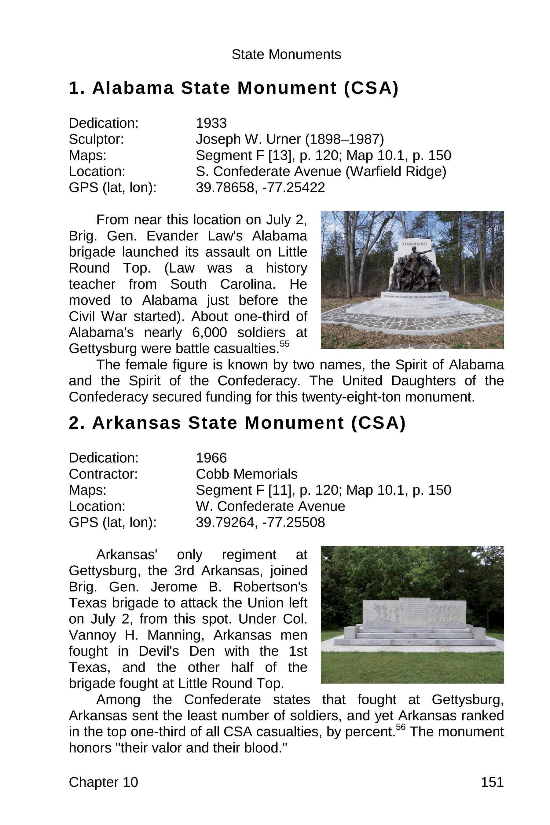 gettysburg state monuments sample 151