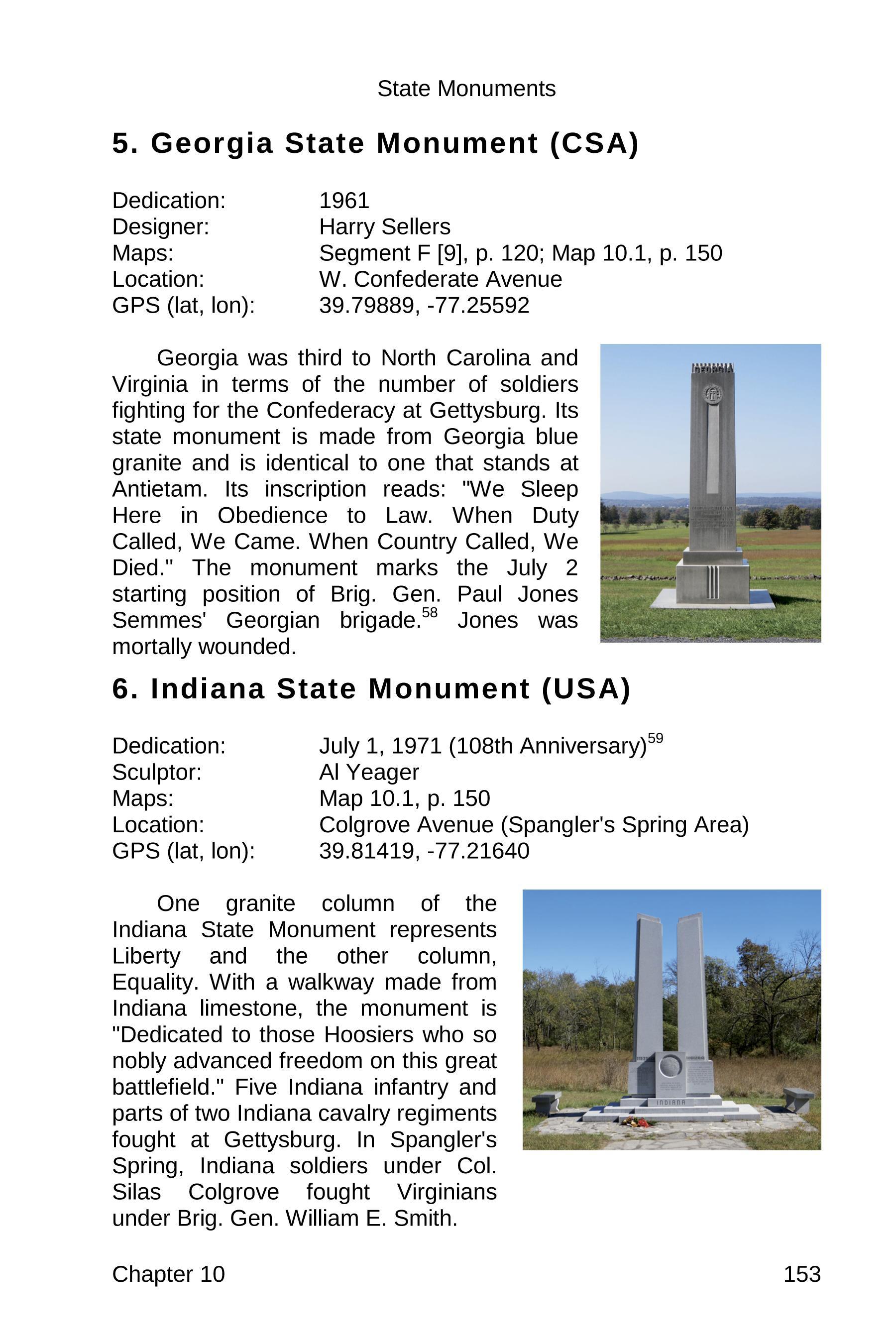 gettysburg state monuments sample 153