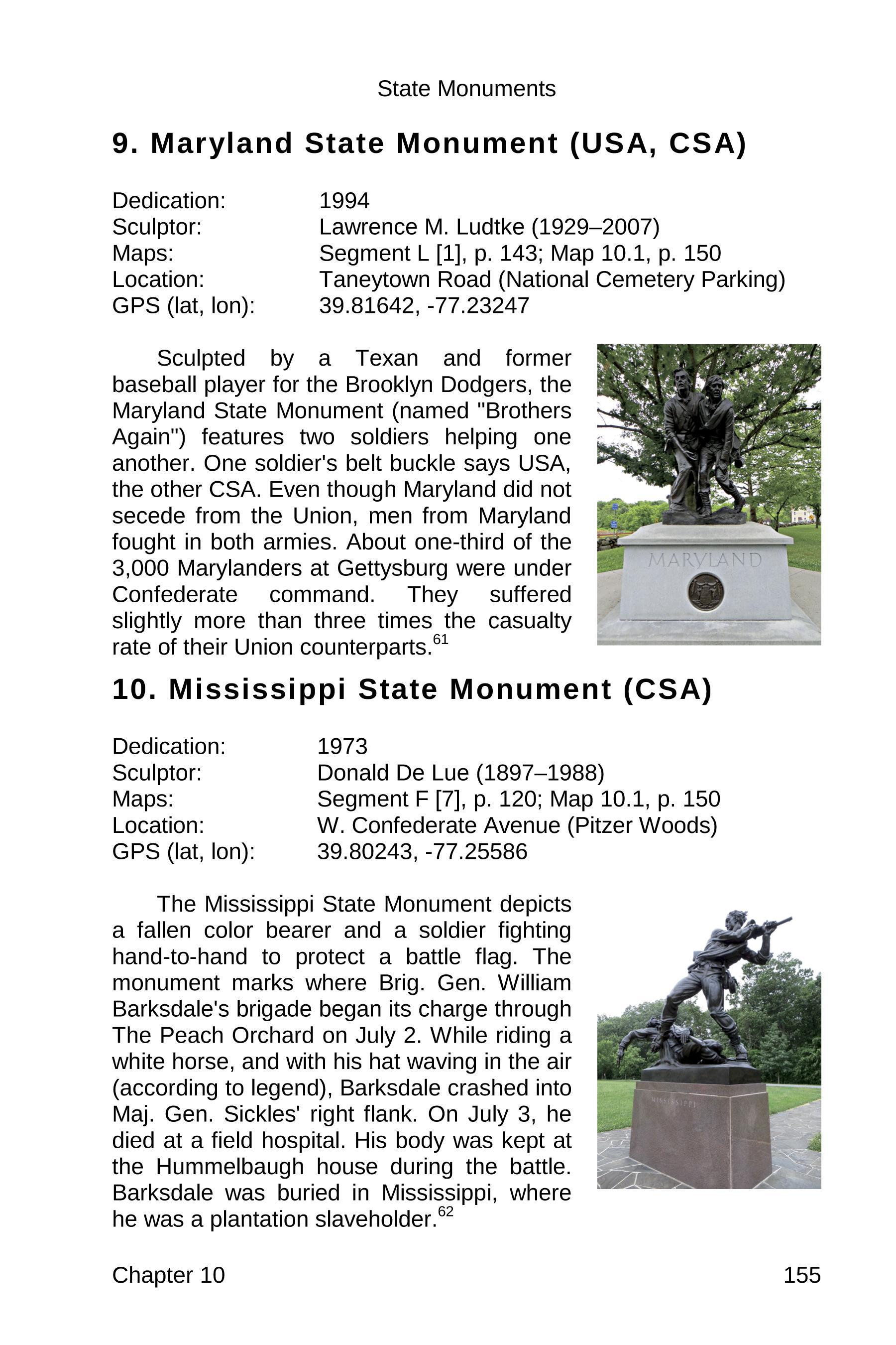 gettysburg state monuments sample 155