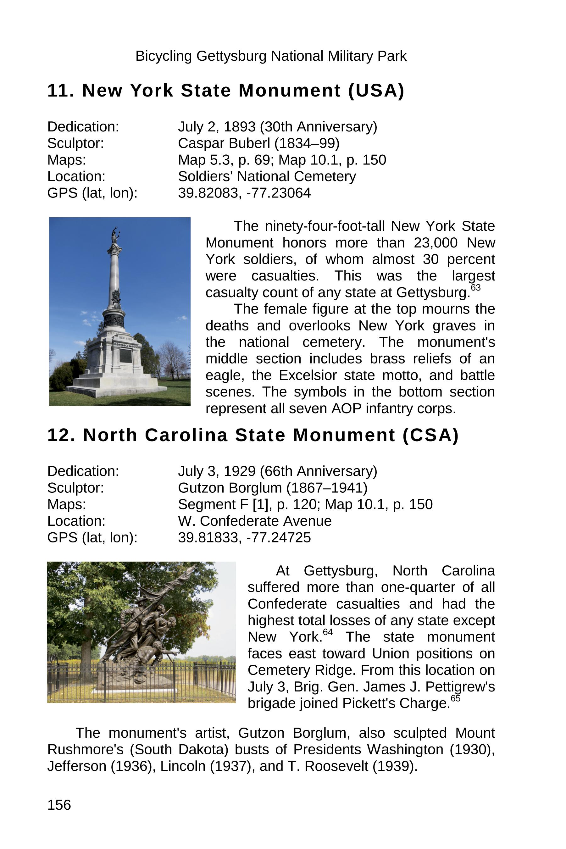 gettysburg state monuments sample 156