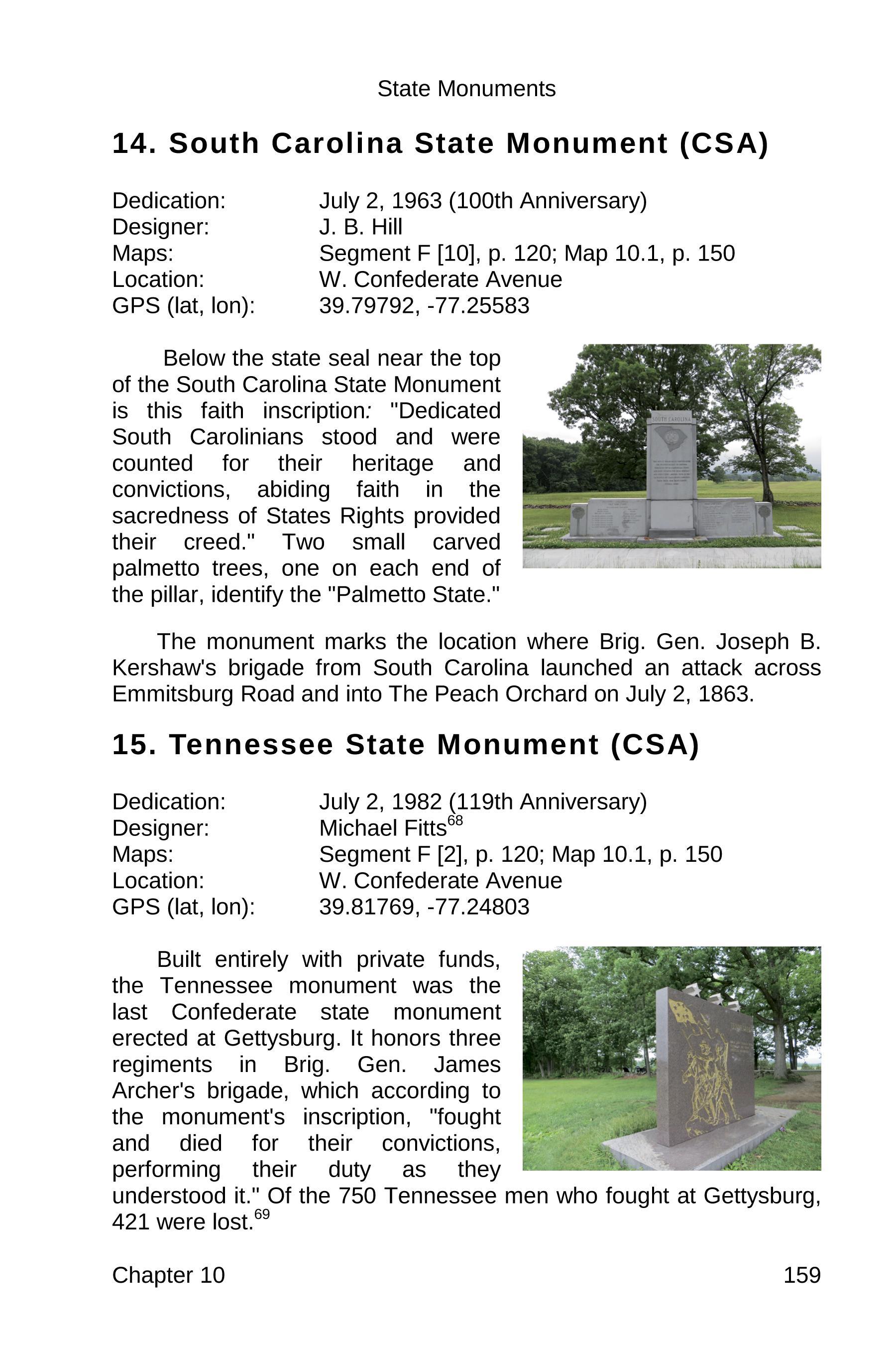gettysburg state monuments sample 159