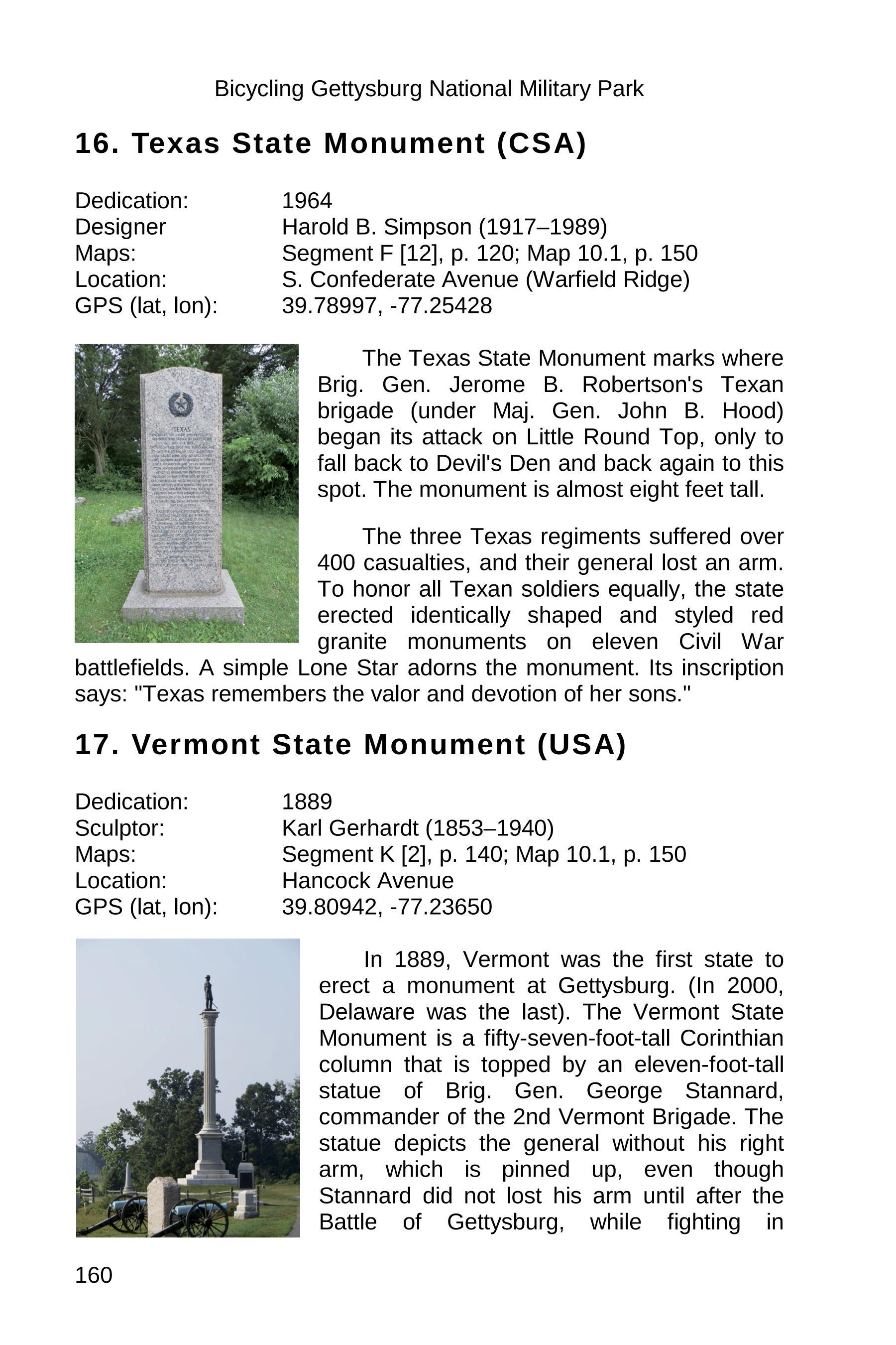 gettysburg state monuments sample 160