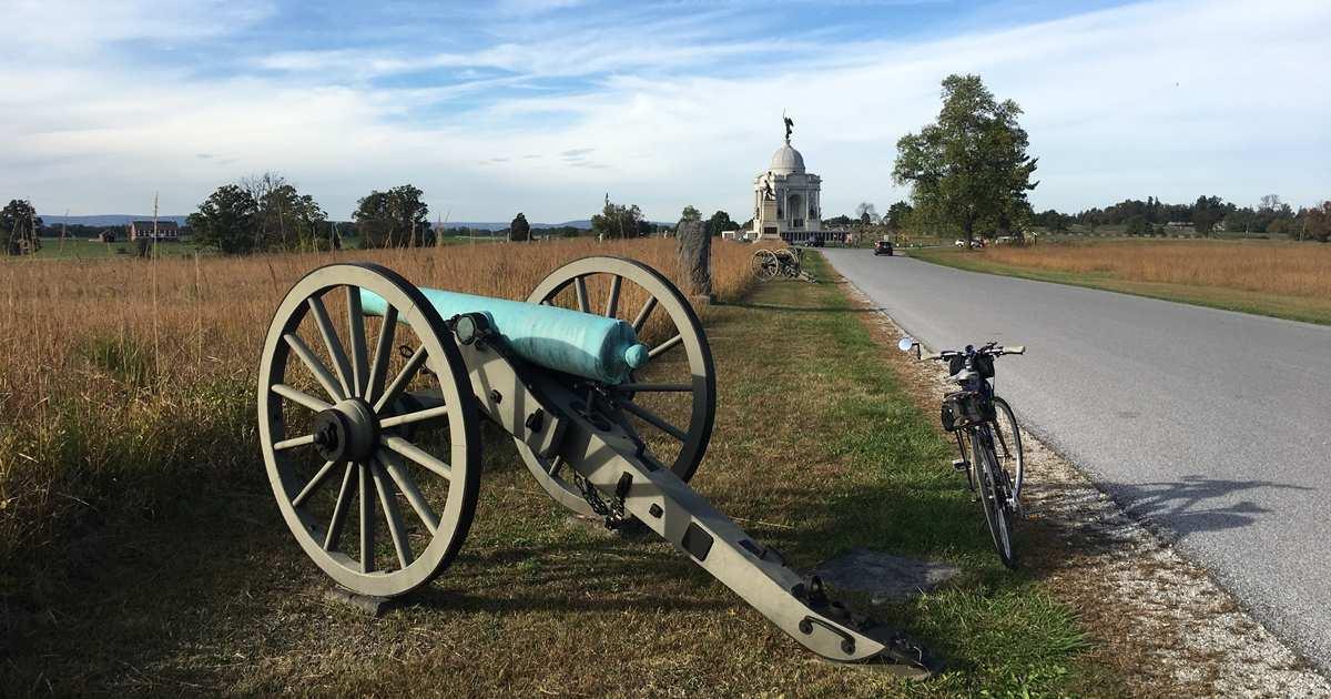 Buy bike maps for Gettysburg