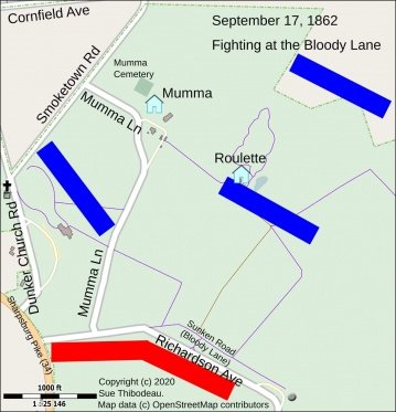 fighting at The Sunken Road