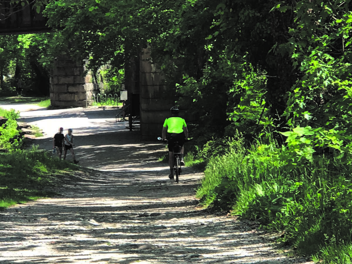 Riding along the Chesapeake & Ohio Canal Towpath