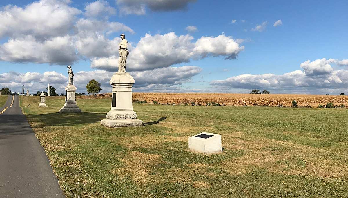 find monuments at Antietam