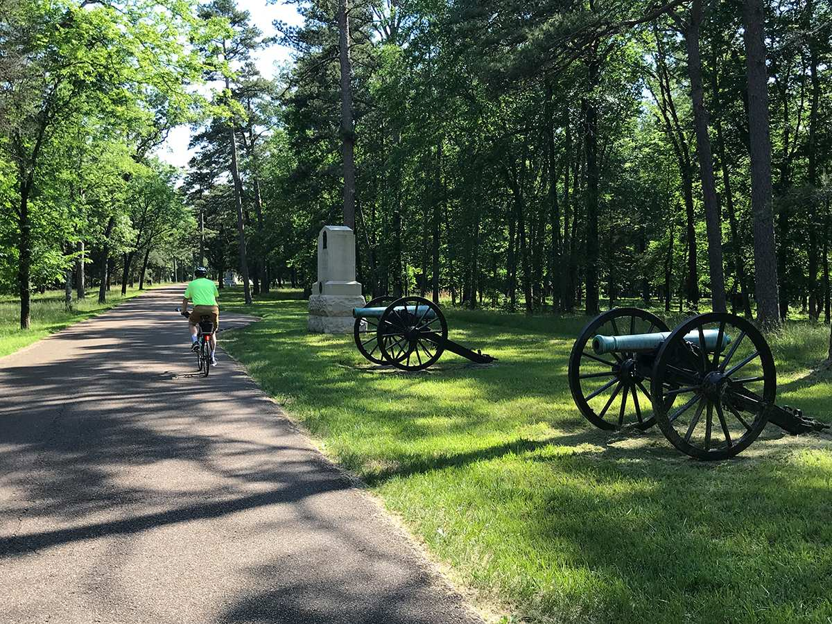 bicycling chickamauga battlefield in May 2019