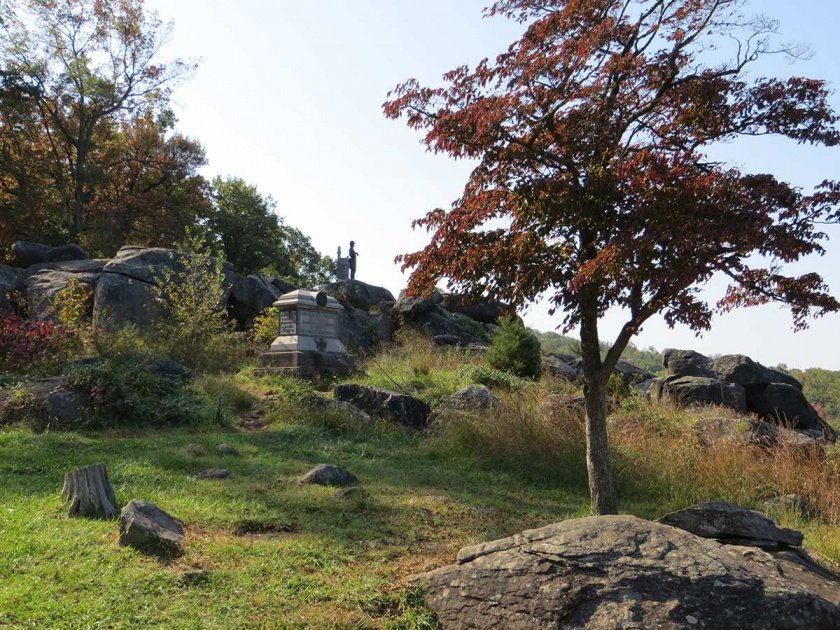 photos of Little Round Top, west slope looking south