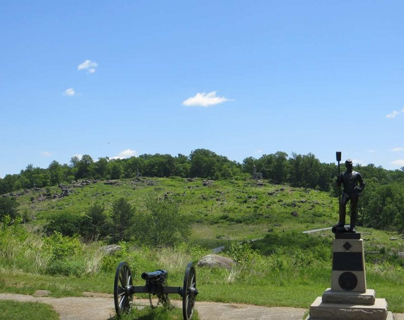 photos of Little Round Top, west face