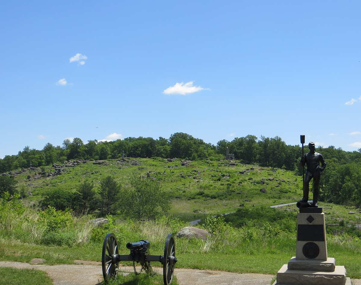 Confederate View of Little Round Top