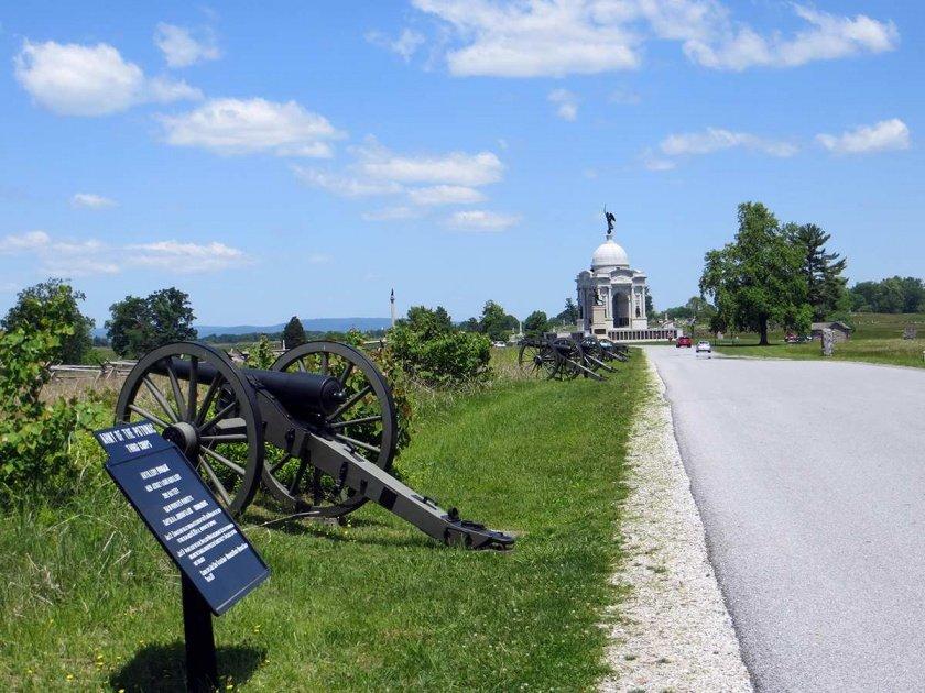 gettysburg bike maps