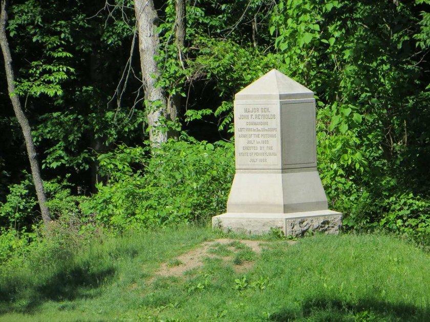 john f. reynolds killed monument in herbst woods