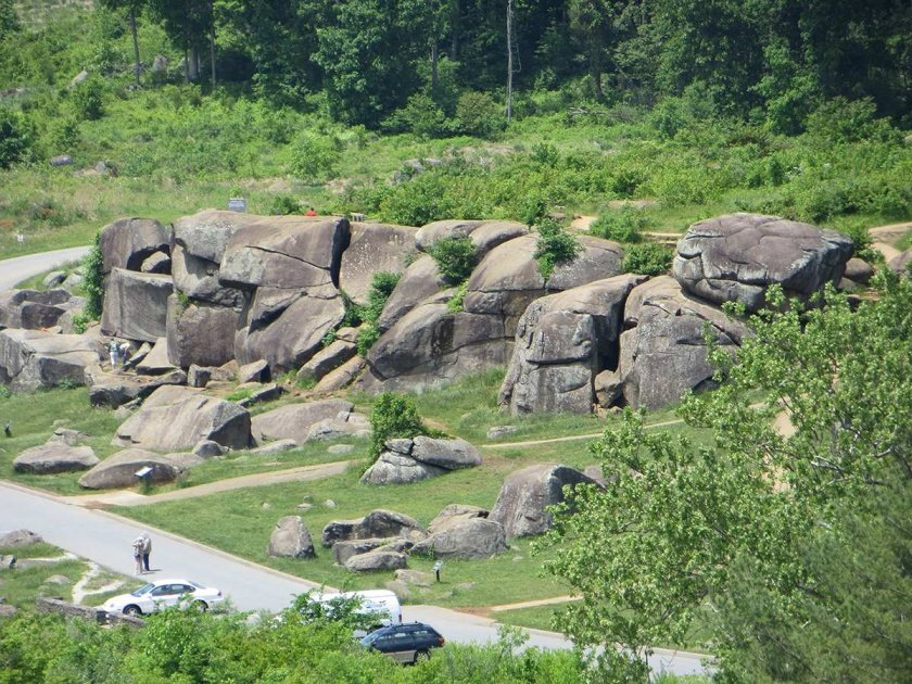 boulders at Devil's Den, as seen from Little Round Top