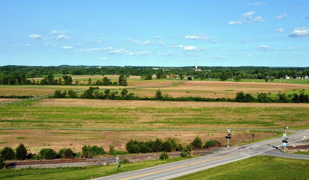 View of Barlow's Knoll from the Oak Hill Observation Tower