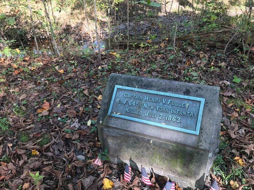 Fuller monument in Rose Woods