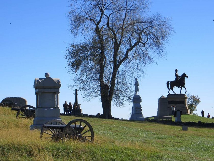 hancock monument on east cemetery hill