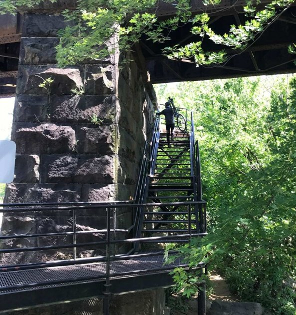 staircase to Harpers Ferry bridge